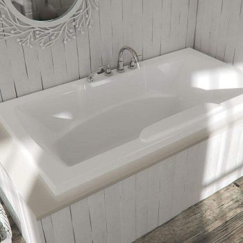 Deep Soaking Tub for 2 with Armrests