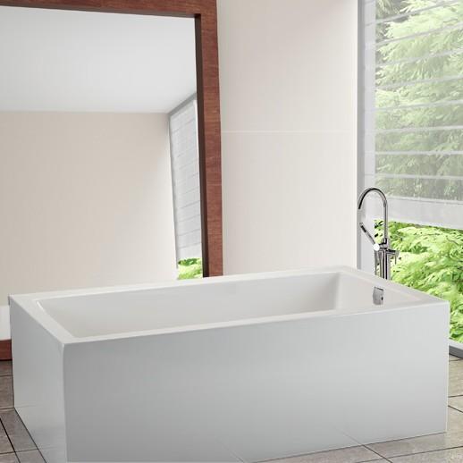 Small Rectangle Freestanding Bathtub