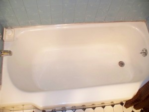Old Tub with Spout at Backrest