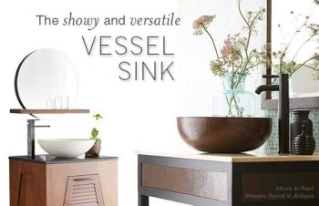 Copper and Cement Vessel Sinks