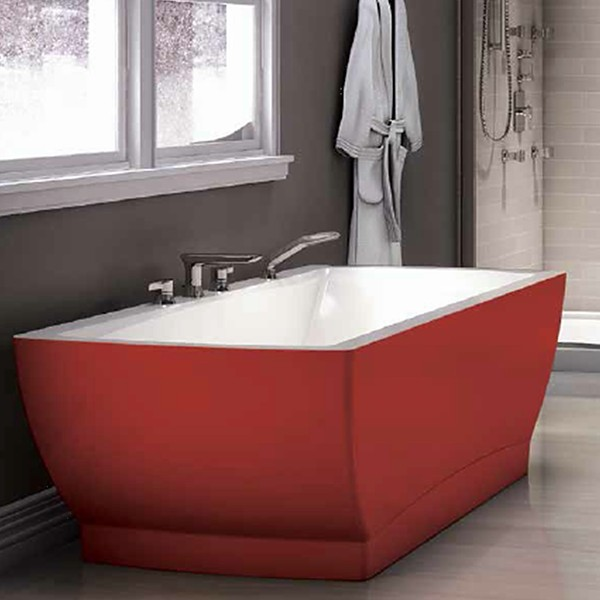 Freestanding bathtubs with color comfort for Coloured free standing bath