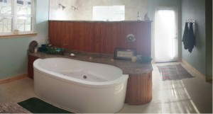Front View of Tub Area