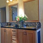 Double Vanity with 2 Drop-in Glass Sinks