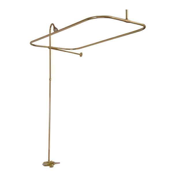 Brass Clawfoot Tub Shower Kit. Tub Spout with Shower Riser and Rod Barclay Anthea Acrylic Bathtub