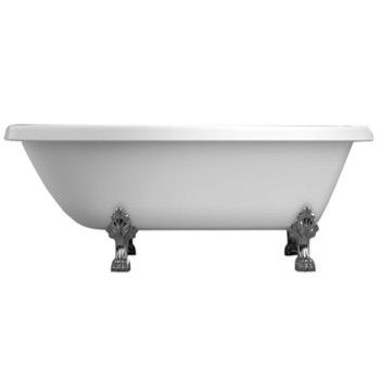 Roll Top Bath with Curving Backrest and Lion Paw Feet