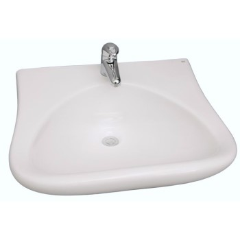 Half Circle Basin, Curving Sides, Shown for Single Hole Faucet