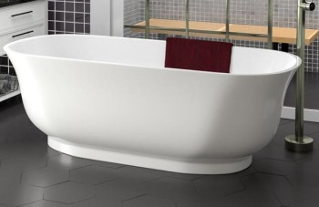 Freestanding Bath with Curvey Sides, a Thin Rim