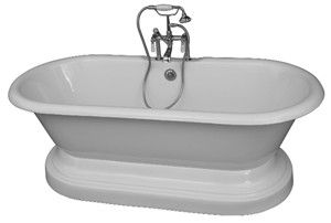 Pedestal Tub, Freestanding Faucets