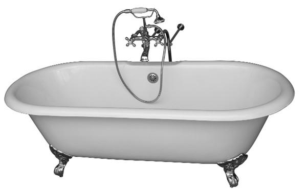 clawfoot kitchen sink