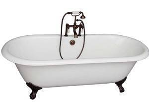 Clawfoot Tub, Deck Faucets
