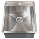 Modern Rectangle Stainless Steel Prep Sink with Faucet Hole