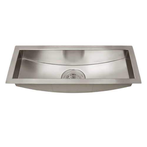 Rectangle Trough Stainless Undercounter Prep Sink