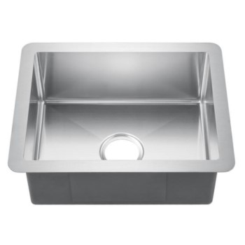Rectangle Satin Stainless Steel Sink with Tight Radius Corners