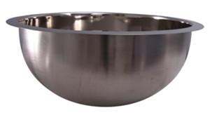 Polished Nickel Round Sink with Flat Rim
