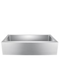 Stainless Steel Single Bowl, Kitchen Sink with Curved Front Apron