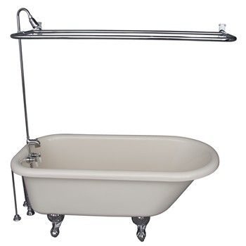 Bisque Anthea Tub & Shower Chrome 4191-54