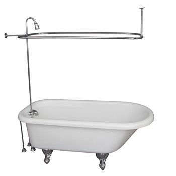 White Anthea Tub & Shower Chrome 4190-54