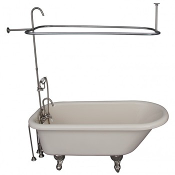 Bisque Anthea Tub & Shower Brushed Nickel 4144-48