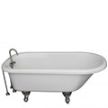 Clawfoot Tub with Tub Faucet