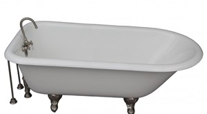 Clawfoot Tub with Shower & Shower Rod