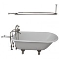 Clawfoot Tub, Freestanding Faucets, Shower Rod