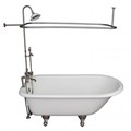 Deck Faucet with Hand Shower, Supplies, Shower Set, Clawfoot Tub