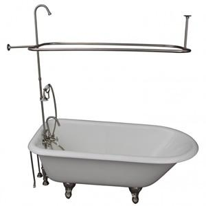 Faucets in Tub Wall, Hand Shower, Shower Set, Clawfoot