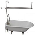 Faucets in Tub Wall, Hand Shower, Clawfoot & Shower Set
