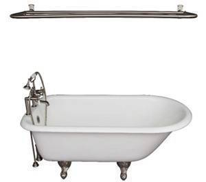 Deck Faucet with Hand Shower, Supplies, Shower Rod, Clawfoot Tub