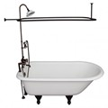 Deck Mount Faucets, Hand Shower, Clawfoot with Shower Set