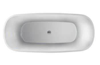 Top View - Oval Bath with Center Drain