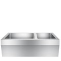 Double Bowl Apron Sink with Angled Apron