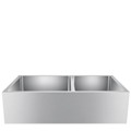 Double Bowl Apron Sink with Smooth Apron