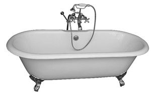 Clawfoot Tub, Floor Mount Faucets