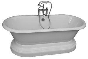 Pedestal Tub, Deck Mount Faucets