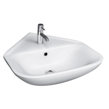 Corner Sink with Rectangle Basin