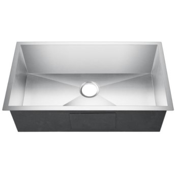 Rectangle Undermount Stainless Kitchen Sink with Back Center Drain