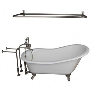 Freestanding Faucets, Hand Shower, D Shower Rod, Slipper Clawfoot