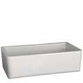 Single Bowl Farm Sink, Rounded Corners, Smooth Apron