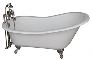 Deck Faucet with Hand Shower, Supplies, Slipper Clawfoot Tub