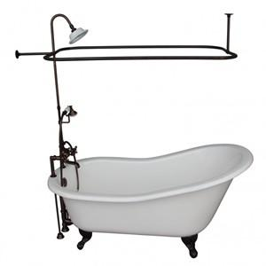 Deck Faucet with Hand Shower, Supplies, Shower Set, Slipper Clawfoot Tub