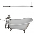 Freestanding Faucets, Hand Shower, Slipper Clawfoot, Oval Shower Rod