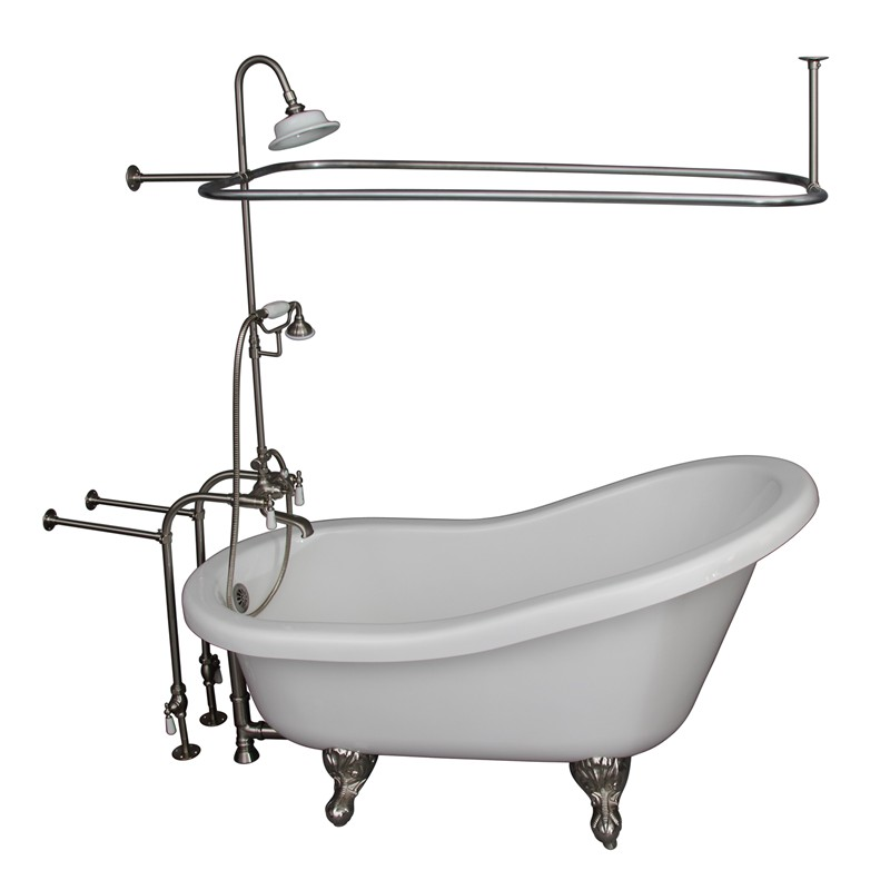 Isadora with Brushed Nickel 4052-PL Lever Tub Wall Filler