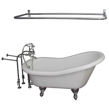 Isadora withChrome 4052-PL Porcelian Lever Tub Filler