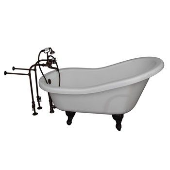 Isadora with Oil Rubbed Bronze 4602-MC Cross Handle Tub Faucet