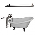 Freestanding Faucets, Hand Shower, Slipper Clawfoot, D Shower Rod