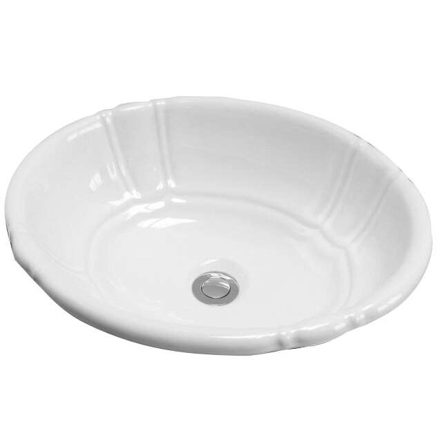 Decorative Flutted Oval Sink