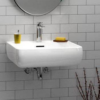 Rectangular Sink with Rounded Sides, Slotted Overflow, Single Hole Faucet