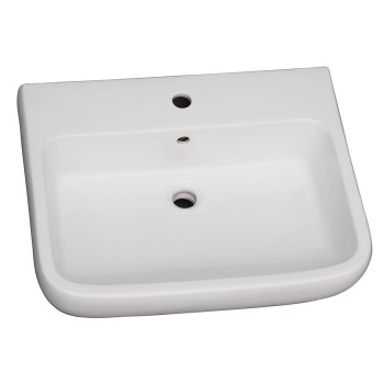Metropolitan Sink Shown with Single Hole Faucet Drilling