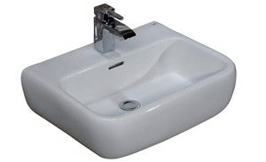 Rectangular Sink with Slotted Overflow, Faucet Deck